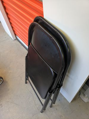 Metal folding chairs for Sale in Vancouver, WA