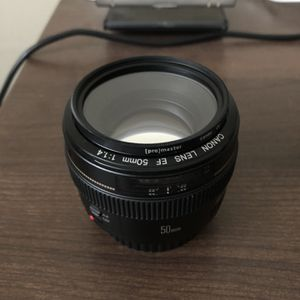 Canon EF 50mm 1.4 Lens + Filter And Hood for Sale in Portland, OR