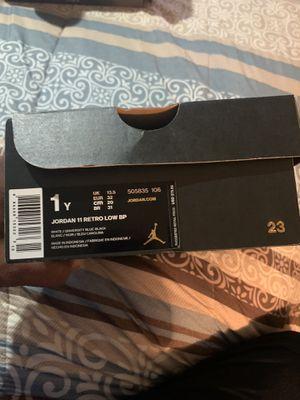 Air Jordan 11 Retro Low BP, boy size 1 for Sale in Forney, TX