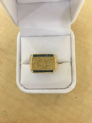 10k real Gold with 0.50 carat diamond men's ring earrings only at Gold N More in sierra vista mall in front of Game Stop. for Sale in Fresno, CA