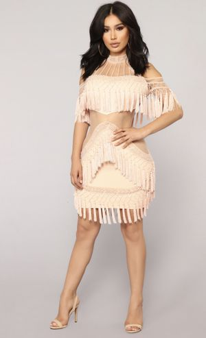 Rose Gold Fringe Dress (Small) for Sale in Lawrence, MA