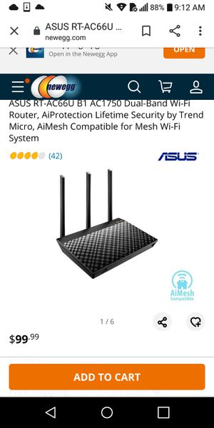 Asus AC1750 Dualband Router for Sale in San Diego, CA