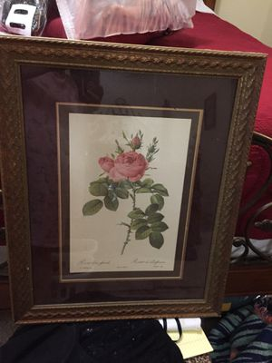 Rose picture 21 1/2 inch by 27 1/2 inch for Sale in Lakeland, FL