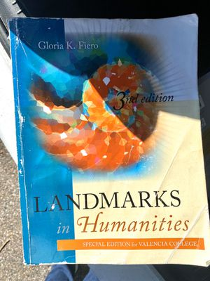 LANDMARKS IN HUMANITIES TEXTBOOK for Sale in Orlando, FL