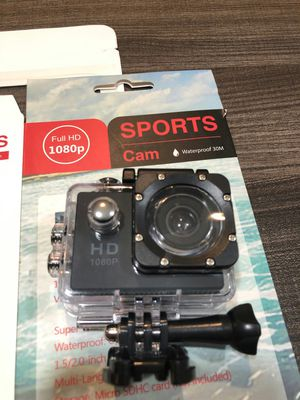 Brand new action camera waterproof 1080 p HD wide angle with accessories for Sale in Davie, FL