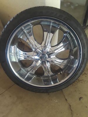 """22"""" velocity rims and tires $500 o.b.o for Sale in Sanger, CA"""