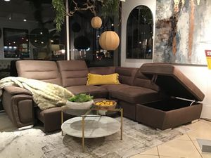 Sleeper Sectional with storage chaise(Modern Home Furniture) for Sale in Everett,, WA