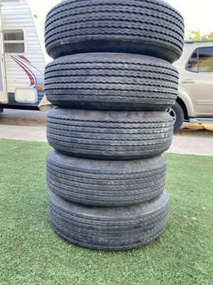 Trailer tires used five tires all matching for Sale in Sun City, AZ