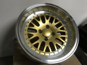 15 inch rims gold deep dish 4x100 new in box for Sale in Little Falls, NJ