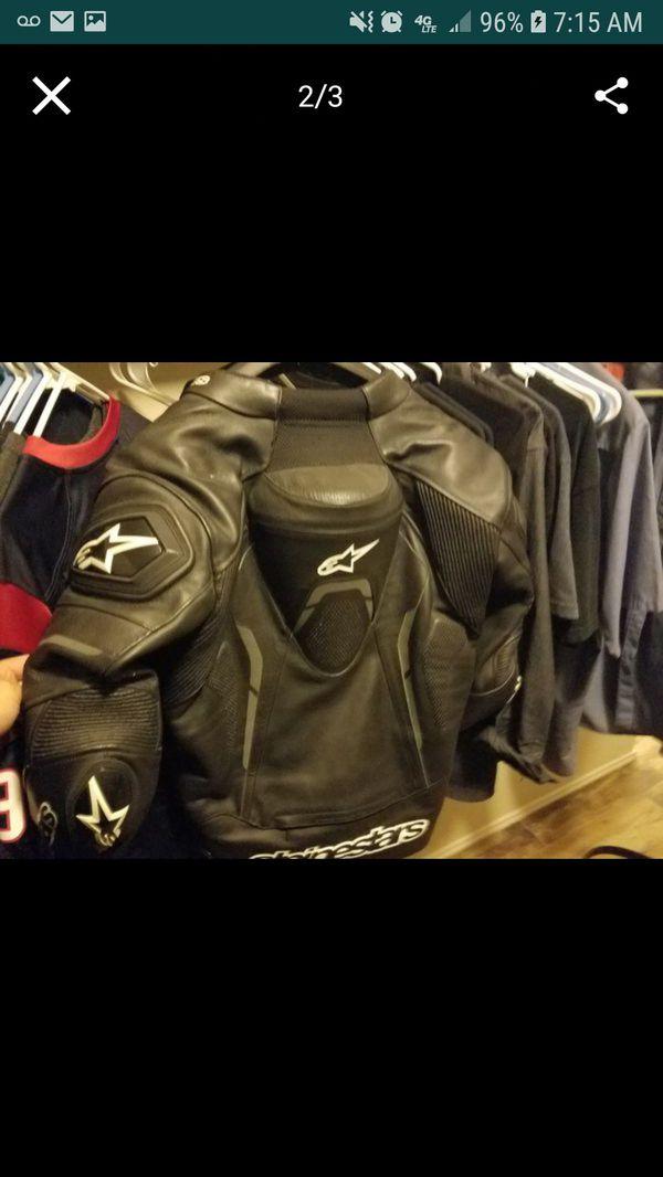 Alpinestar leather riding jacket