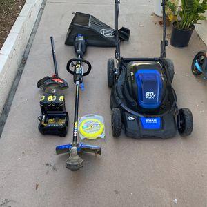 Kobalt 80V MAX Brushless Lawnmower Weedwacker Hedger 2x Batteries for Sale in Bellflower, CA