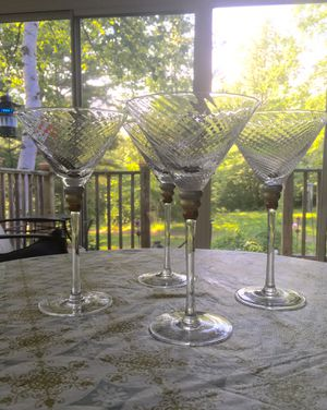Set of 4 Martini Glasses from Macy's for Sale in Prospect, ME