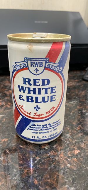 Red white & blue empty beer can for Sale in Virginia Beach, VA