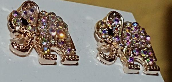 Golden elephant earrings
