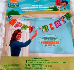 Bubble Guppies Add An Age Jumbo Letter Banner Kit for Sale in Gainesville, FL
