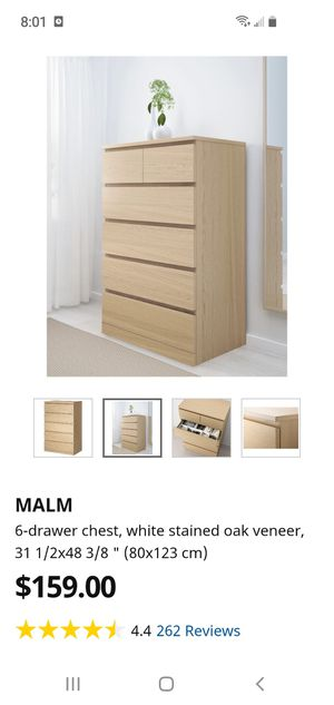MALM 6 DRAWER DRESSER for Sale in UNIVERSITY PA, MD