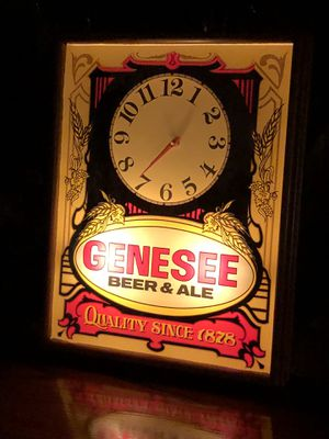 Genesee Illuminated Clock 6719825 Attractive wooden frame for Sale in Fairview, PA