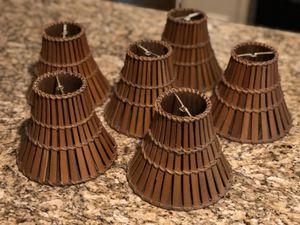 Split Bamboo Candelabra Bulb Lamp Shades for Sale in Woodstock, GA