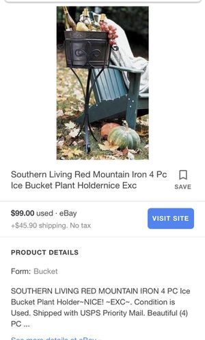 Southern Living Red Mountain Iron Plants Holders, ir entertainment ice Bucket With Stand ( Doesn't Included the Bucket ) for Sale in Norwalk, CA