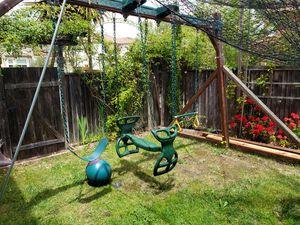 Wood swing set for Sale in Novato, CA