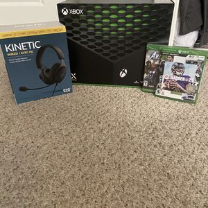 Xbox Series X Bundle (Madden + Avengers + Headset) for Sale in Gilroy, CA