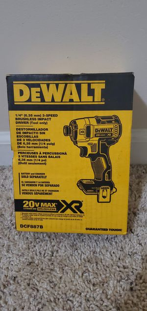 DEWALT 20-Volt MAX XR Lithium-Ion Cordless Brushless 3-Speed 1/4 in. Impact Driver (Tool-Only) for Sale in Bakersfield, CA