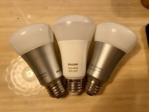 Philips Hue Lightbulbs (Set of 3) for Sale in Los Angeles, CA