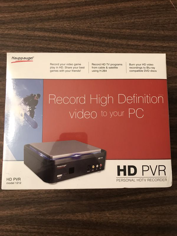 HD PVR, Personal Video recording device