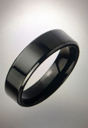 Stainless Steel Black Ring Smooth Silhouette for Sale in Lanham, MD