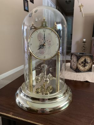 Precious Moments Wedding Couple clock with glass globe for Sale in Columbus, OH