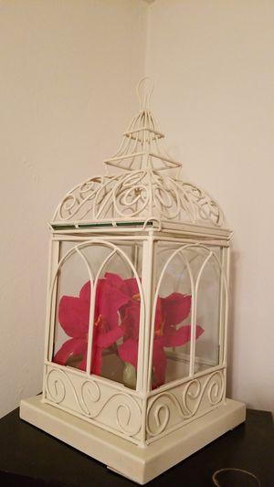 Glass & metal bird house decoration for Sale in Salem, VA