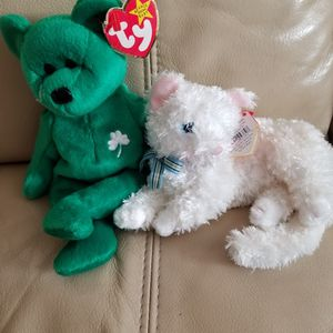Beanie Babies TY Original ERIN and SCARLETT both Rare Both for $16.00 for Sale in Coronado, CA