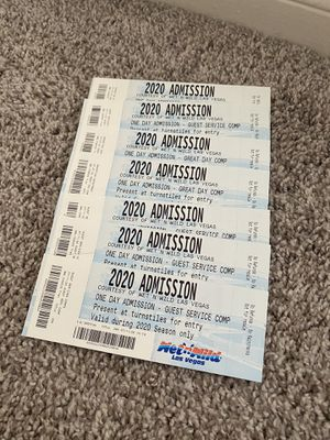 6 Wet N Wild Tickets - ALL FOR $50 for Sale in Las Vegas, NV