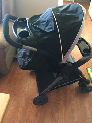 "Graco click connect stroller/car seat&base only used once, no rips Tares stains basically brand new! Car seat comes with base! ""OBO"" for Sale in Tacoma, WA"