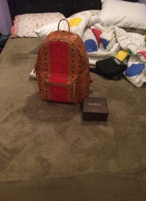 Gucci belt and MCM backpack for Sale in Silver Spring, MD
