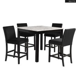 *REDUCED PRICE* MARBEL 5PCS Counter Height Dining Set Table + 4 Chairs 1715 for Sale in Orange,  CA