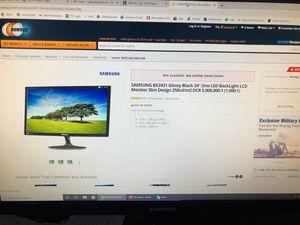 """Two 24"""" Samsung monitors for Sale in Canton, MI"""