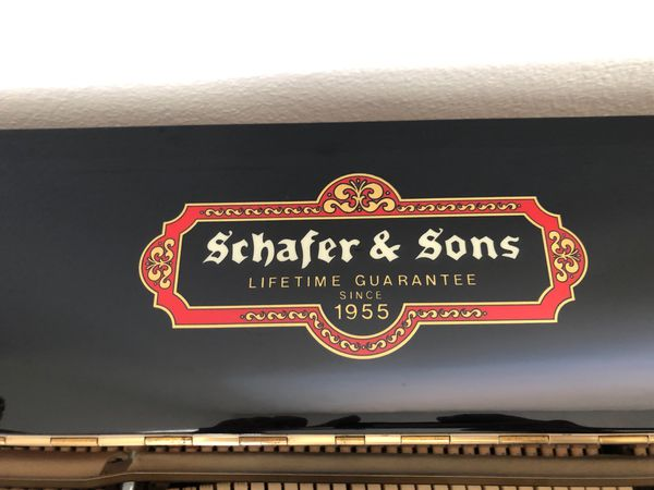 MINT Schafer & Sons VS-48 Piano (Black in excellent condition)