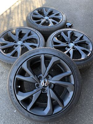 Black Honda Civic Si Wheels Rims Tires Rines Sport Touring 2019 for Sale in Los Angeles, CA