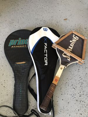Three tennis rackets $30 Wilson/Wilson/prince for Sale in Creedmoor, TX
