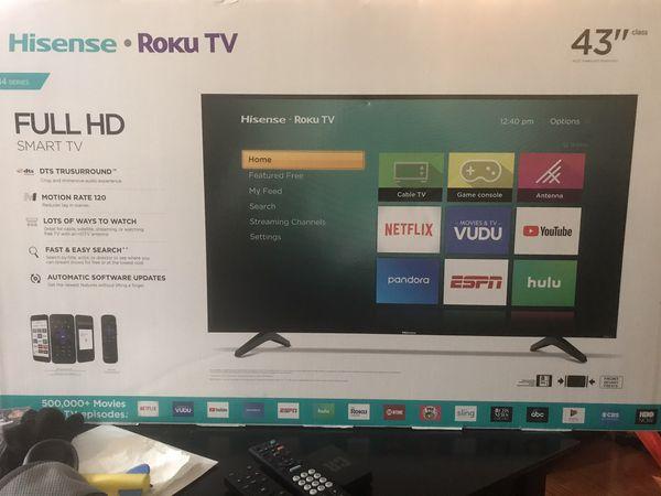 "Hisense Roku TV 43"""