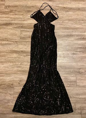 Women's Long Formal Sequin Gown Evening Dress Halloween Costume for Sale in Gladstone, OR