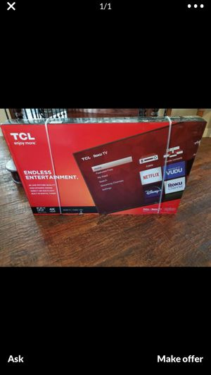 55 inch 4k ultra smart led hdtv built in Roku.... brand new a for Sale in DeSoto, TX