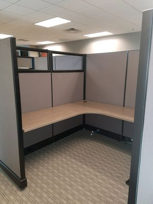 Hermon Miller glasstop cubicles in good used condition can be custom refurbished Fabric and work surfaces for Sale in Phoenix, AZ