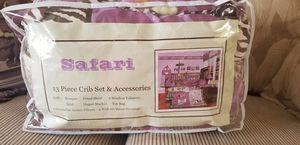 Purple safari crib set for Sale in Tacoma, WA