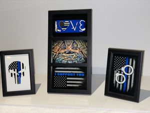 Thin Blue Line Decor for Sale in Hebron, KY