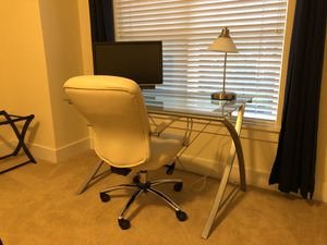 Glass Desk and Chair for Sale in Issaquah, WA