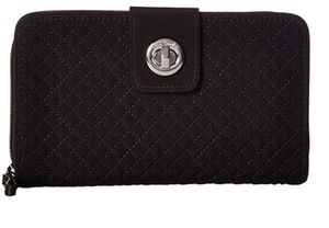 VERA BRADLEY QUILTED BLACK WALLET WITH ZIPPERED COIN SECTION for Sale in Dallas, TX