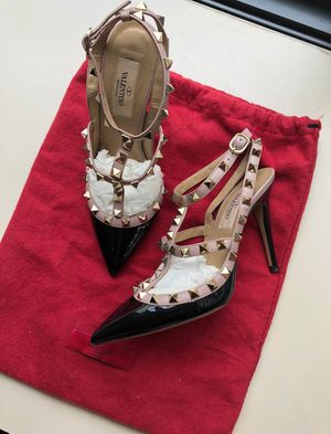 Valentino Black Rockstud Heels for Sale in Washington, DC