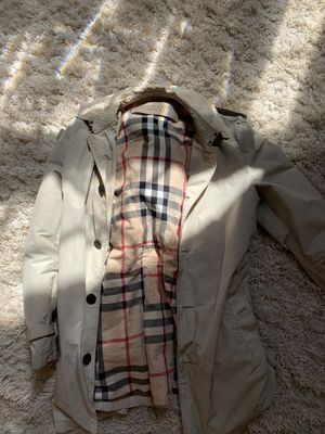 2015 designer mens winter line Burberry trench coat XL. for Sale in Gainesville, GA